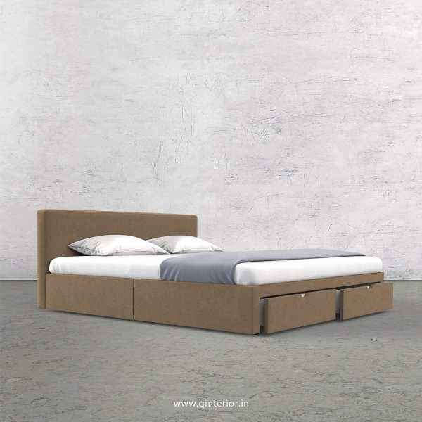 Nirvana Queen Storage Bed in Velvet Fabric - QBD001 VL11