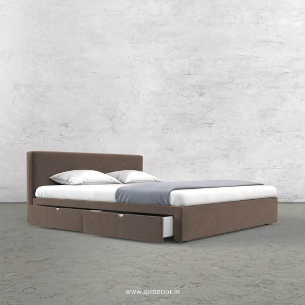 Nirvana Queen Storage Bed in Velvet Fabric - QBD008 VL02