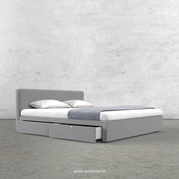 Nirvana Queen Storage Bed in Velvet Fabric - QBD008 VL06