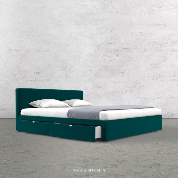 Nirvana Queen Storage Bed in Velvet Fabric - QBD008 VL13