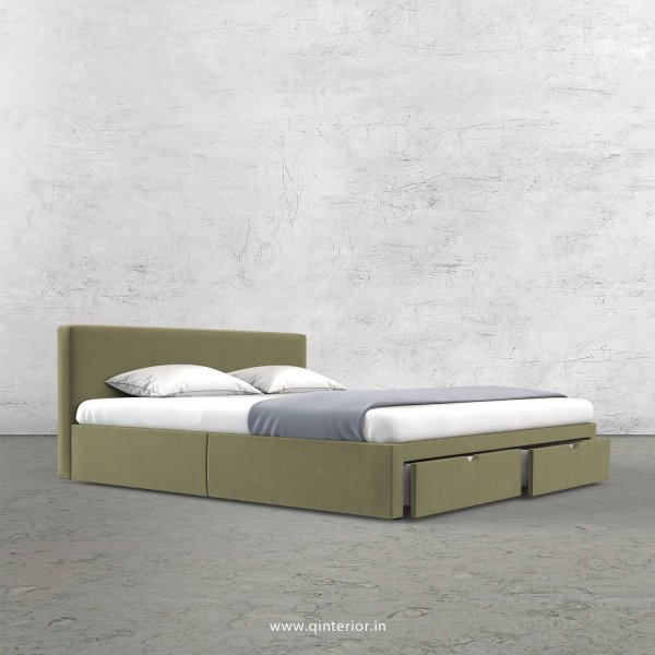 Nirvana Queen Storage Bed in Velvet Fabric - QBD001 VL04