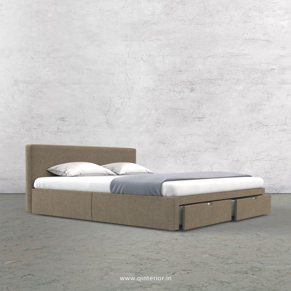 Nirvana Queen Storage Bed in Velvet Fabric - QBD001 VL03