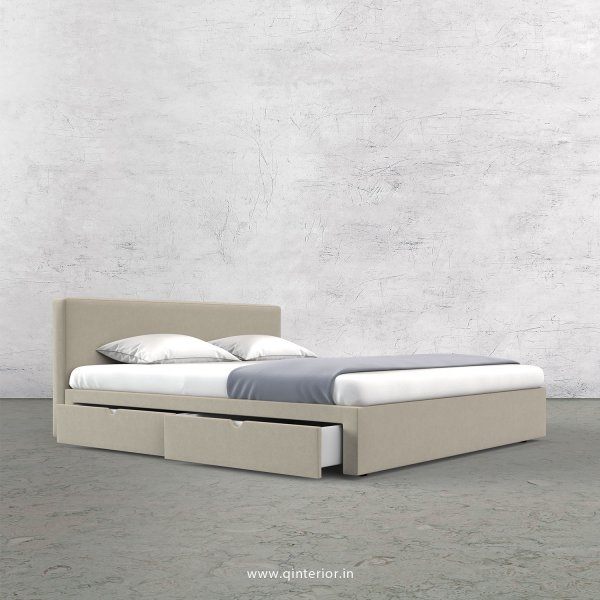 Nirvana Queen Storage Bed in Velvet Fabric - QBD008 VL01