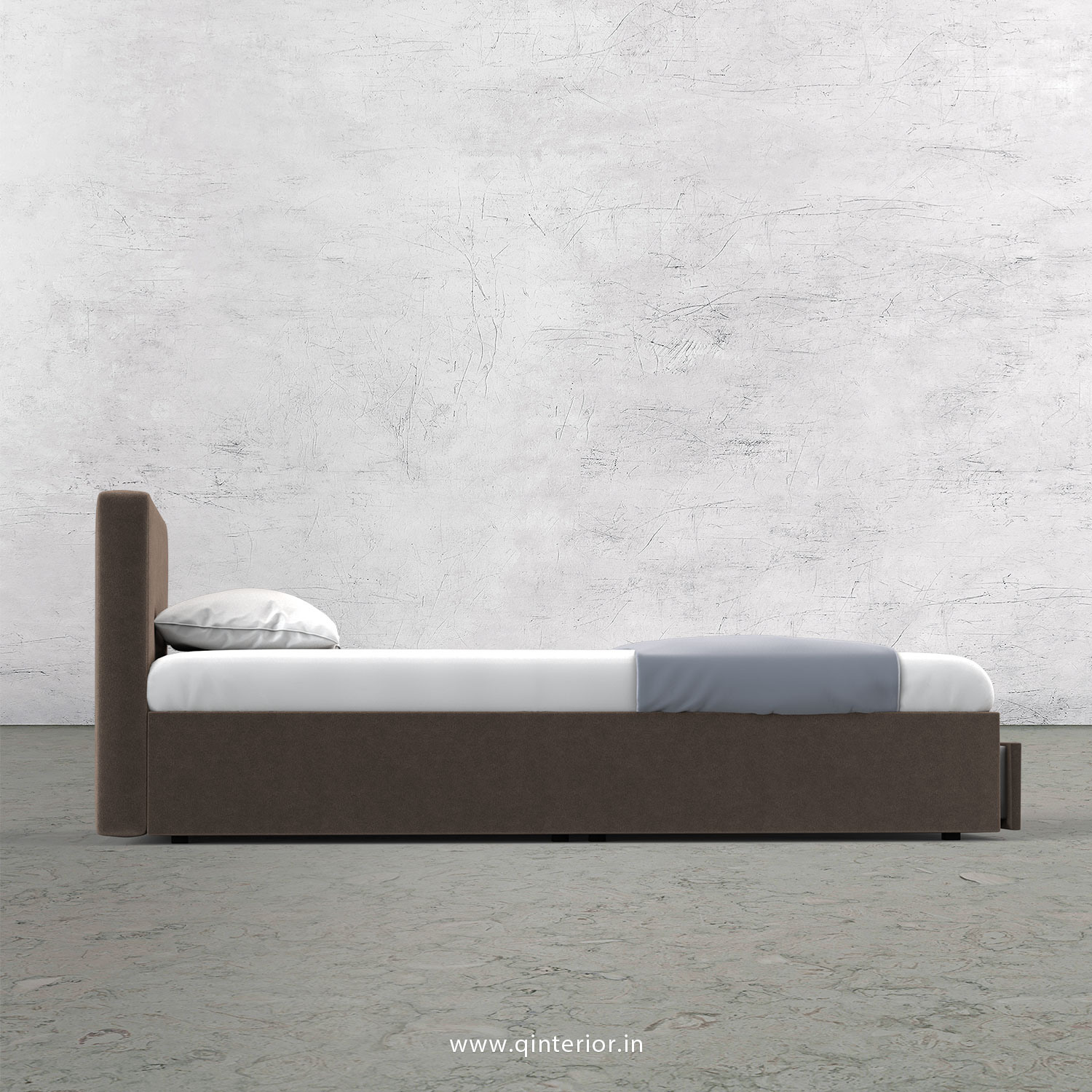 Nirvana Queen Storage Bed in Velvet Fabric - QBD001 VL02