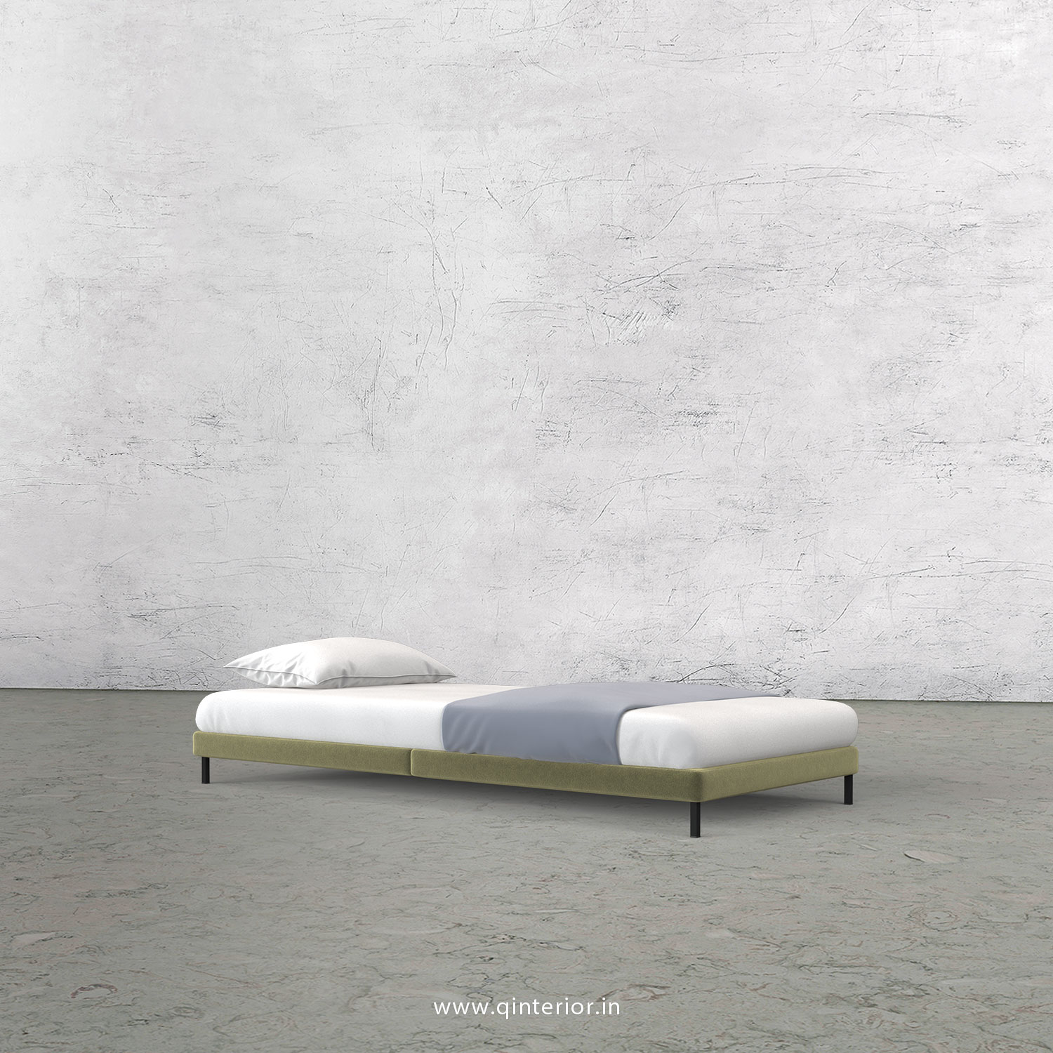 PUNTO Single Bed in Velvet Fabric - SBD006 VL04