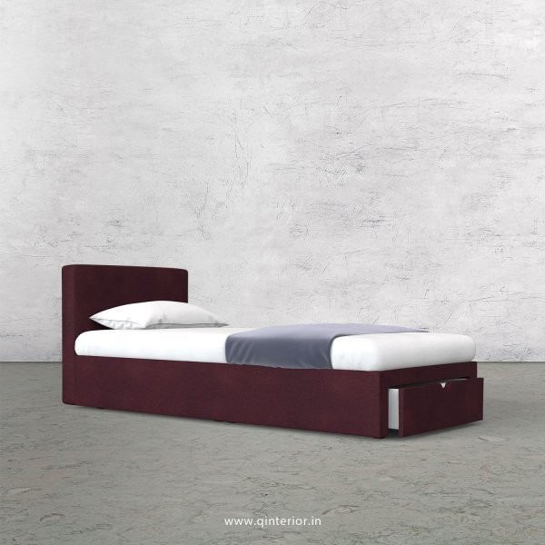 Nirvana Single Storage Bed in Fab Leather Fabric - SBD001 FL12