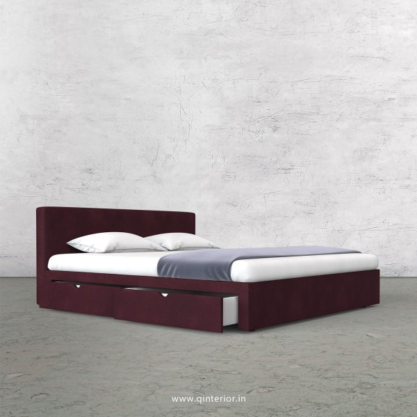 Nirvana King Size Storage Bed in Fab Leather Fabric - KBD007 FL12