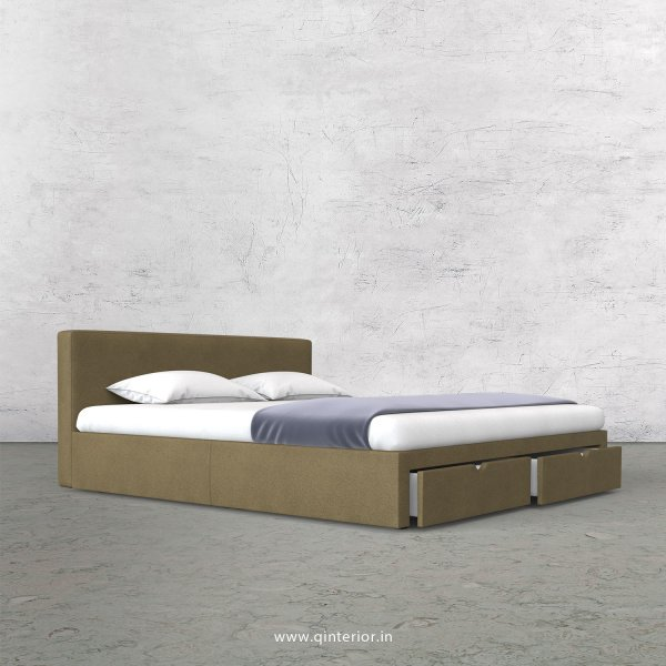 Nirvana Queen Storage Bed in Fab Leather Fabric - QBD001 FL01