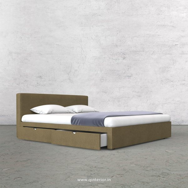 Nirvana King Size Storage Bed in Fab Leather Fabric - KBD007 FL01