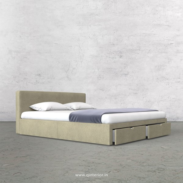 Nirvana Queen Storage Bed in Fab Leather Fabric - QBD001 FL10