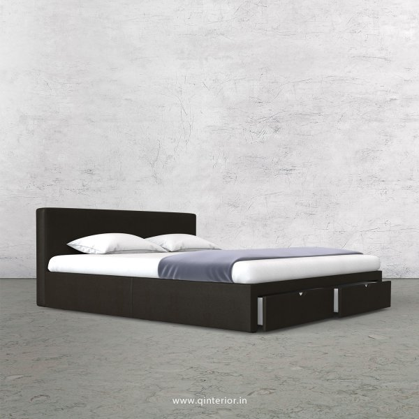 Nirvana King Size Storage Bed in Fab Leather Fabric - KBD001 FL15