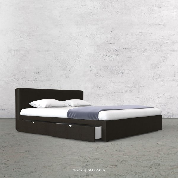 Nirvana King Size Storage Bed in Fab Leather Fabric - KBD007 FL11