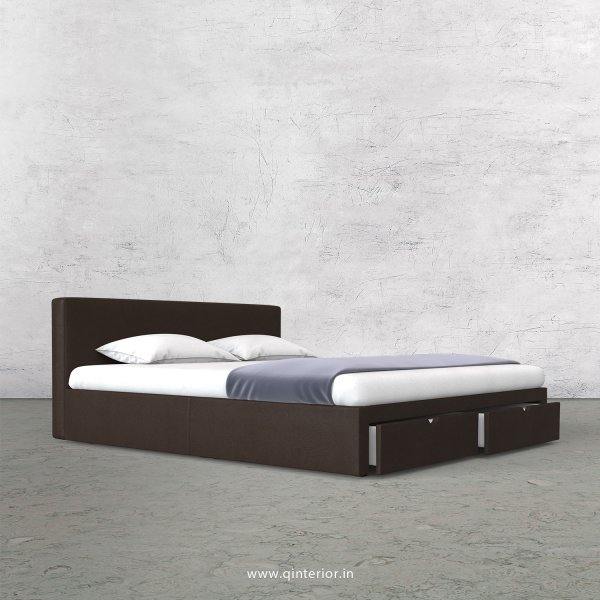 Nirvana King Size Storage Bed in Fab Leather Fabric - KBD001 FL16