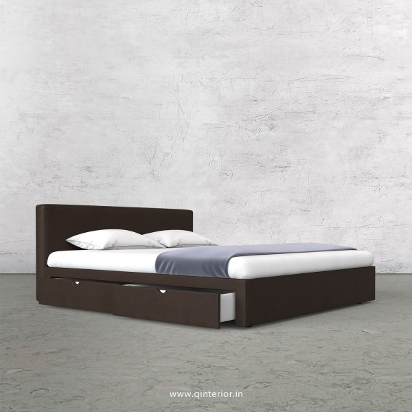 Nirvana Queen Storage Bed in Fab Leather Fabric - QBD007 FL11