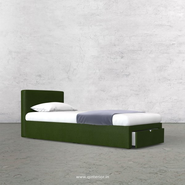 Nirvana Single Storage Bed in Fab Leather Fabric - SBD001 FL04
