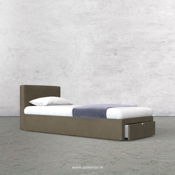 Nirvana Single Storage Bed in Fab Leather Fabric - SBD001 FL06