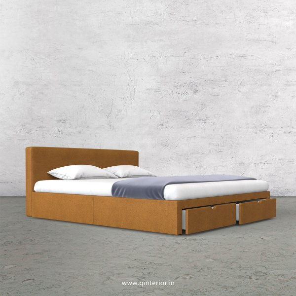 Nirvana King Size Storage Bed in Fab Leather Fabric - KBD001 FL14