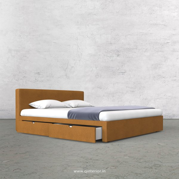 Nirvana King Size Storage Bed in Fab Leather Fabric - KBD007 FL14