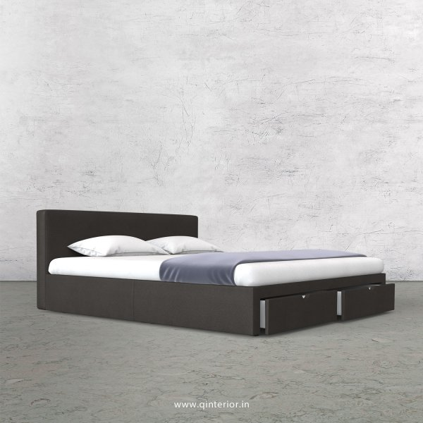 Nirvana King Size Storage Bed in Fab Leather Fabric - KBD001 FL11