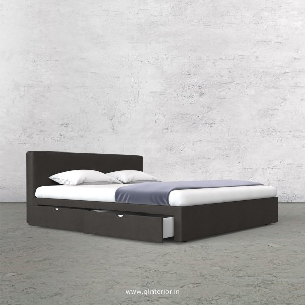 Nirvana Queen Storage Bed in Fab Leather Fabric - QBD007 FL15