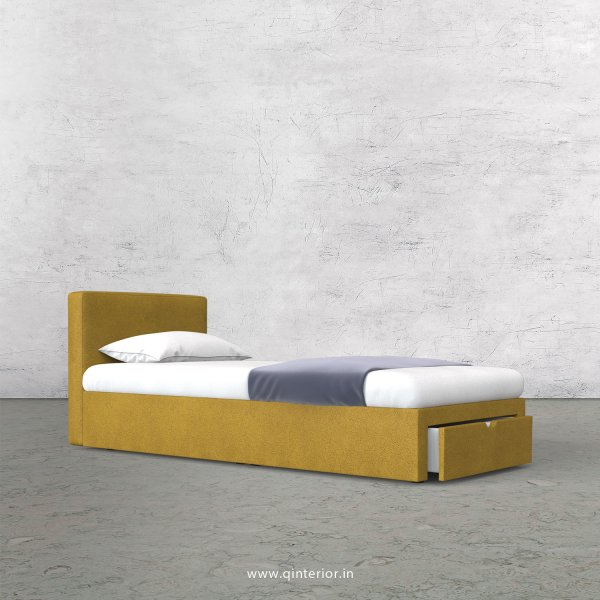 Nirvana Single Storage Bed in Fab Leather Fabric - SBD001 FL18
