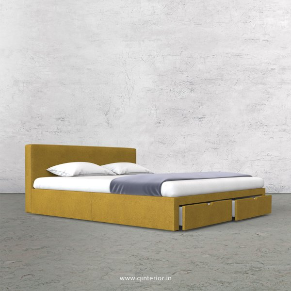Nirvana King Size Storage Bed in Fab Leather Fabric - KBD001 FL18