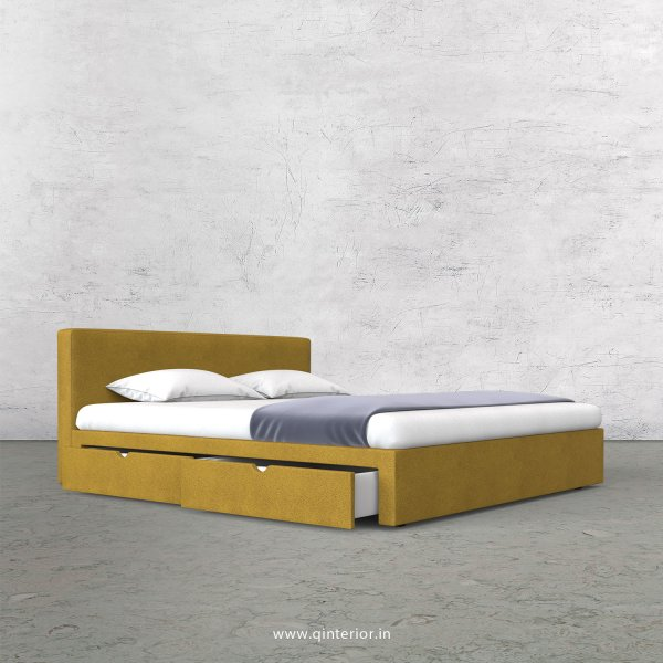Nirvana Queen Storage Bed in Fab Leather Fabric - QBD007 FL18