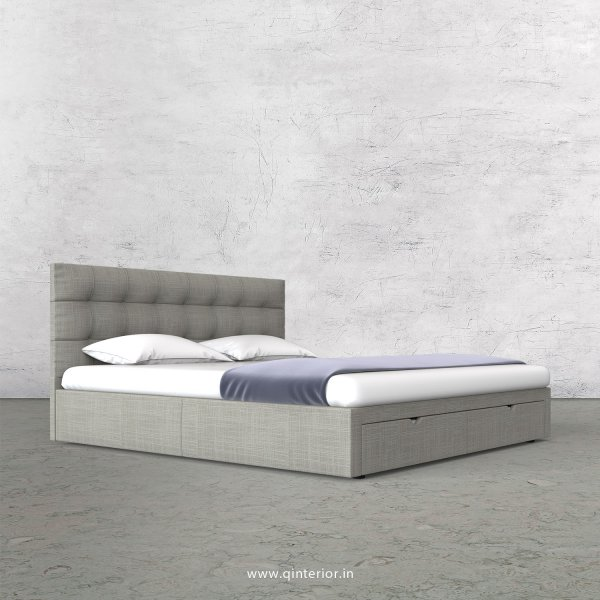 Lyra King Size Storage Bed in Cotton Plain - KBD001 CP04