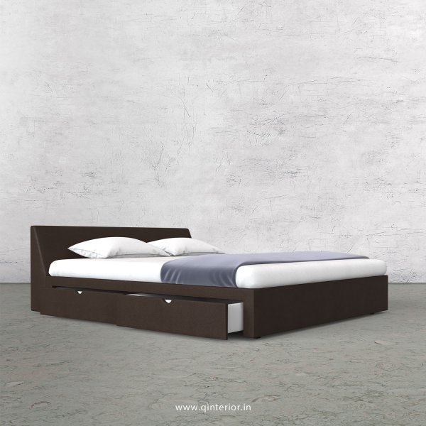 Viva Queen Storage Bed in Fab Leather Fabric - QBD007 FL16