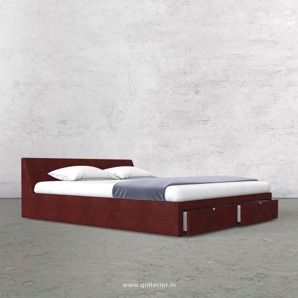 Viva King Size Storage Bed in Fab Leather Fabric - KBD001 FL17