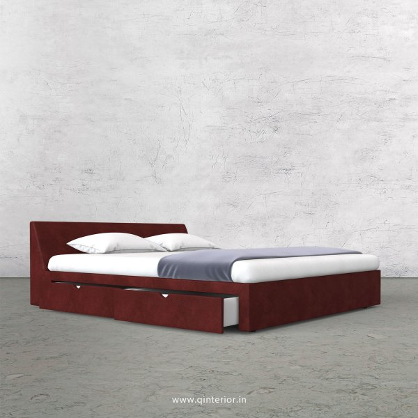 Viva Queen Storage Bed in Fab Leather Fabric - QBD007 FL17