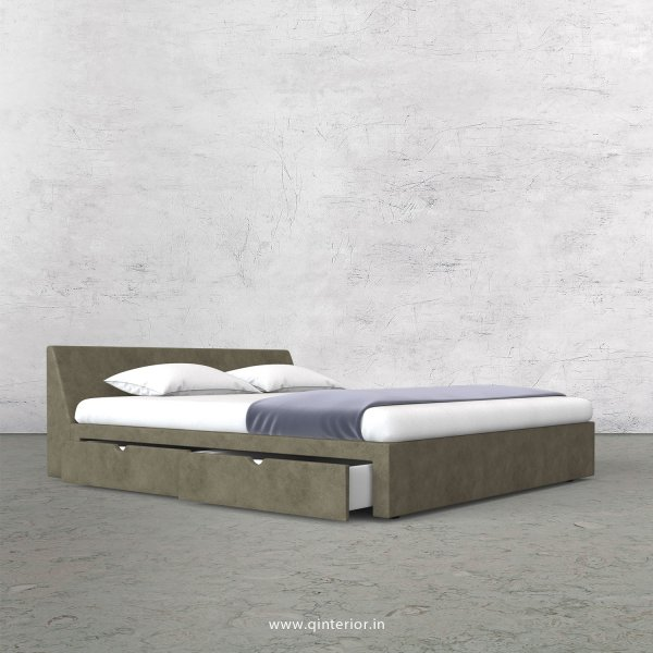 Viva Queen Storage Bed in Fab Leather Fabric - QBD007 FL03
