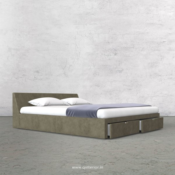Viva Queen Storage Bed in Fab Leather Fabric - QBD001 FL03