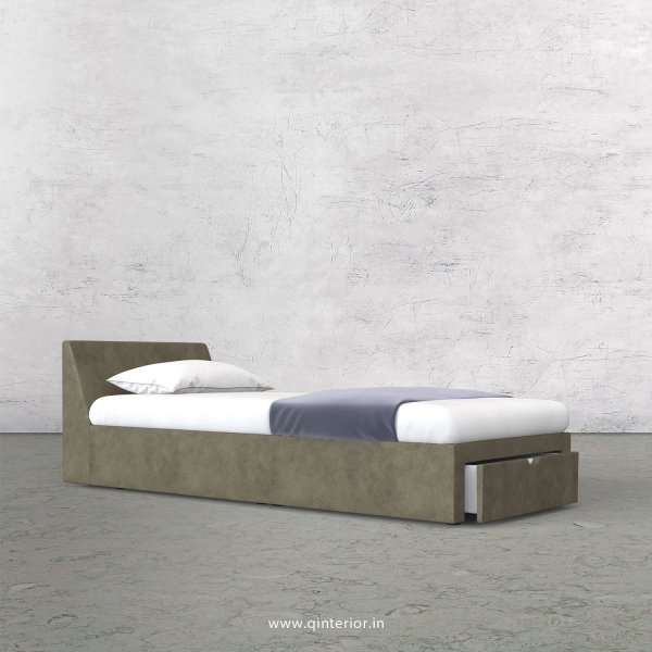 Viva Single Storage Bed in Fab Leather Fabric - SBD001 FL03