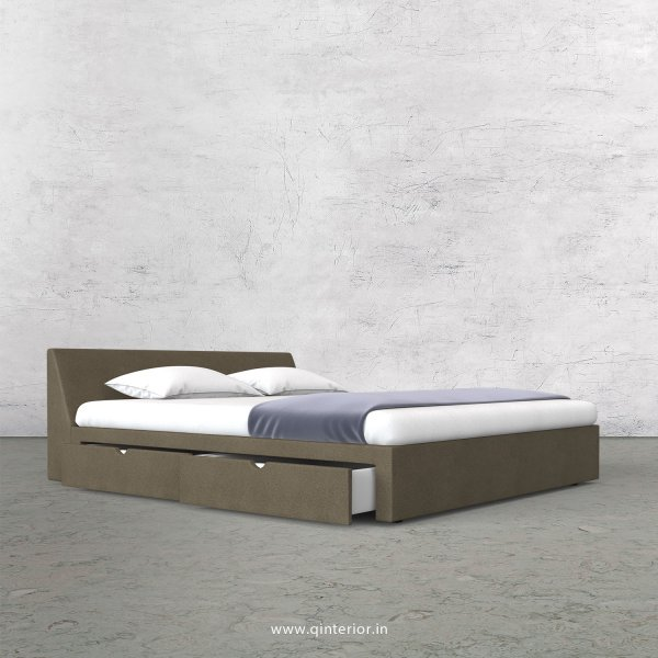 Viva King Size Storage Bed in Fab Leather Fabric - KBD007 FL06