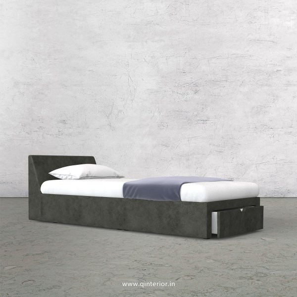 Viva Single Storage Bed in Fab Leather Fabric - SBD001 FL07