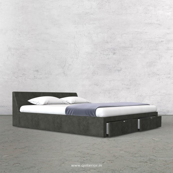 Viva King Size Storage Bed in Fab Leather Fabric - KBD001 FL07