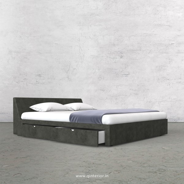 Viva King Size Storage Bed in Fab Leather Fabric - KBD007 FL07