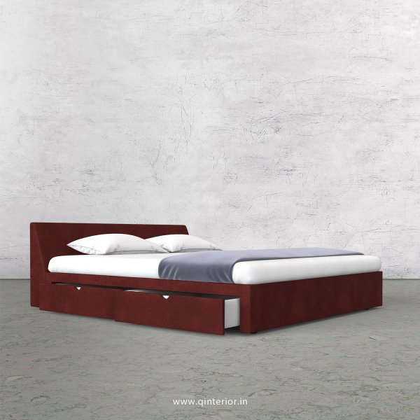 Viva King Size Storage Bed in Fab Leather Fabric - KBD007 FL08