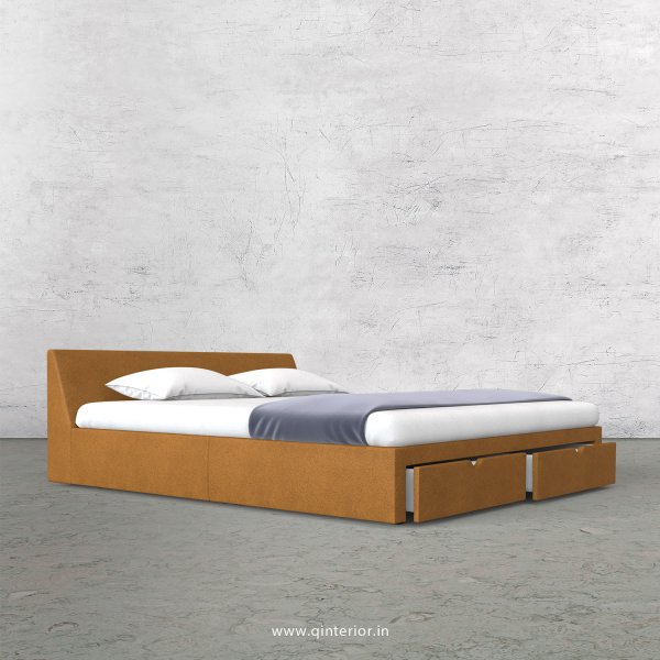 Viva Queen Storage Bed in Fab Leather Fabric - QBD001 FL14