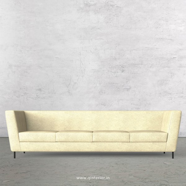 GLORIA 4 Seater Sofa in Fab Leather Fabric - SFA018 FL10