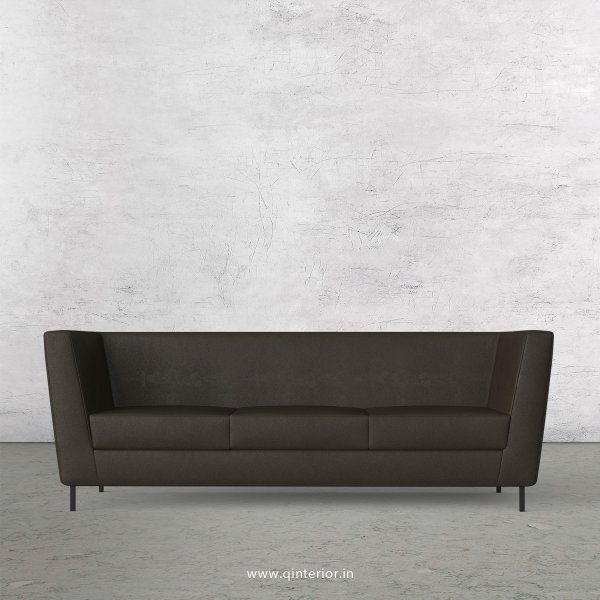 GLORIA 3 Seater Sofa in Fab Leather Fabric - SFA018 FL11