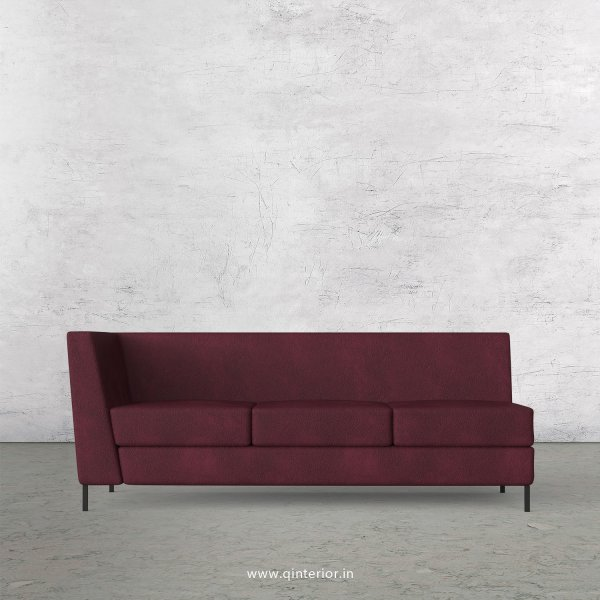 Gloria 3 Seater Modular Sofa in Fab Leather Fabric - MSFA003 FL12