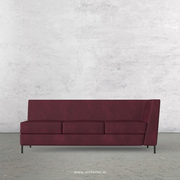 Gloria 3 Seater Modular Sofa in Fab Leather Fabric - MSFA006 FL12