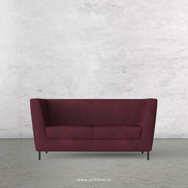 GLORIA 2 Seater Sofa in Fab Leather Fabric - SFA018 FL12