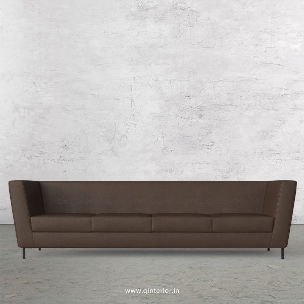 GLORIA 4 Seater Sofa in Fab Leather Fabric - SFA018 FL16