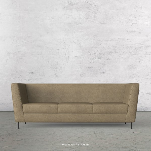 GLORIA 3 Seater Sofa in Fab Leather Fabric - SFA018 FL06