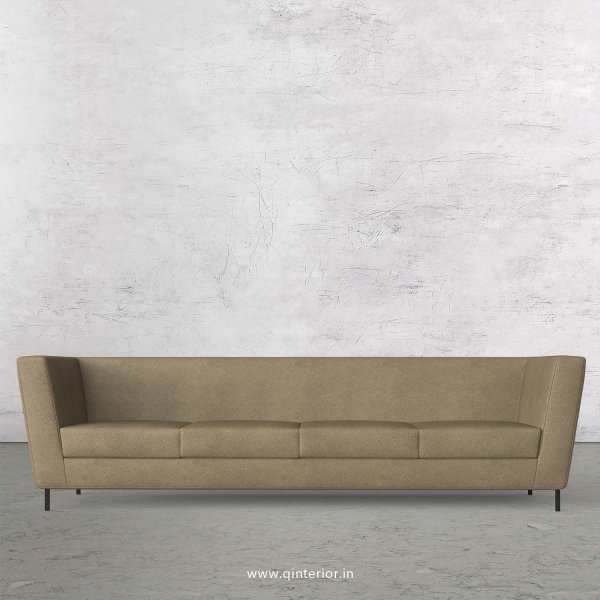 GLORIA 4 Seater Sofa in Fab Leather Fabric - SFA018 FL06