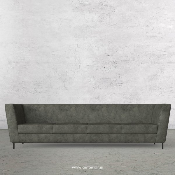 GLORIA 4 Seater Sofa in Fab Leather Fabric - SFA018 FL07