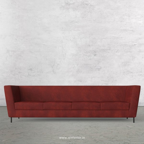 GLORIA 4 Seater Sofa in Fab Leather Fabric - SFA018 FL08